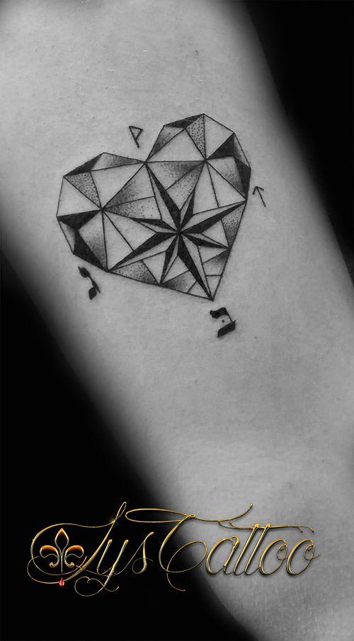 Tatouage Cuisse Femme Cote De La Cuisse Fille Girl Tattoo Cœur