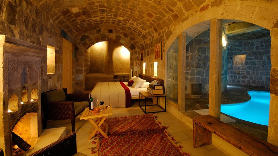 Argos Hotel In Cappadocia, Suite With Indoor Private Pool.