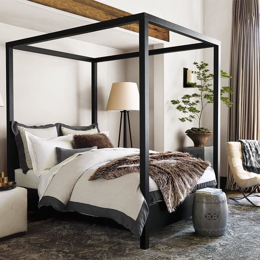 Best This Modern Canopy Bed Brings Architectural Drama To A 400 x 300