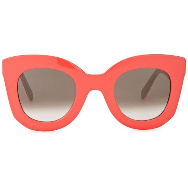 9e838dadd638 Womens Cat-Eye Céline Coral Cat-eye Sunglasses (£219) ❤ liked on Polyvore