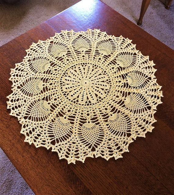 Pineapple Is A Symbol For Hospitality This Yellow Pineapple Doily