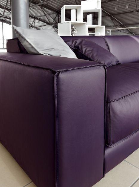 Purple Leather Sofa By Ditre Italia Blob Oversized Purple