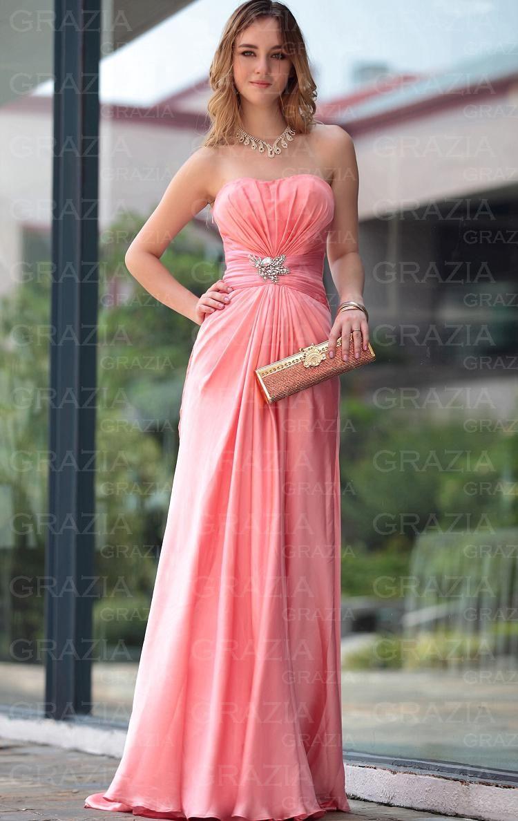 Cheap Floor Length Watermelon Evening Formal Dress LFYAC1137 on sale ...