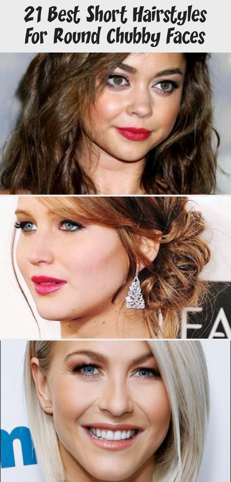 21 Best Short Hairstyles for Round Chubby Faces #HairstylesforroundfacesBigForeh…