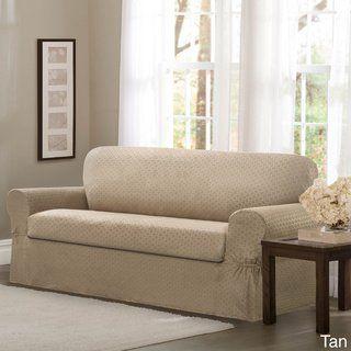 Maytex Conrad Stretch Fabric 2-piece Sofa Slipcover - 74-96 wide/34 ...