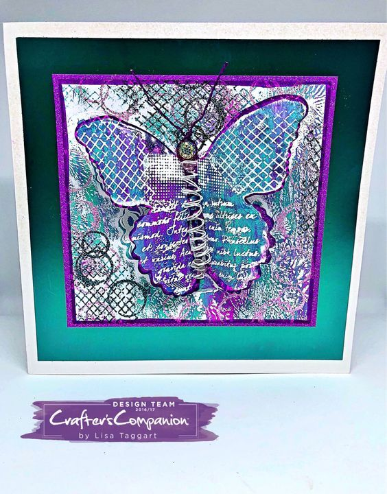 Crafters Companion Sara Signature Flutterby Collection Card Making Dies Stamps