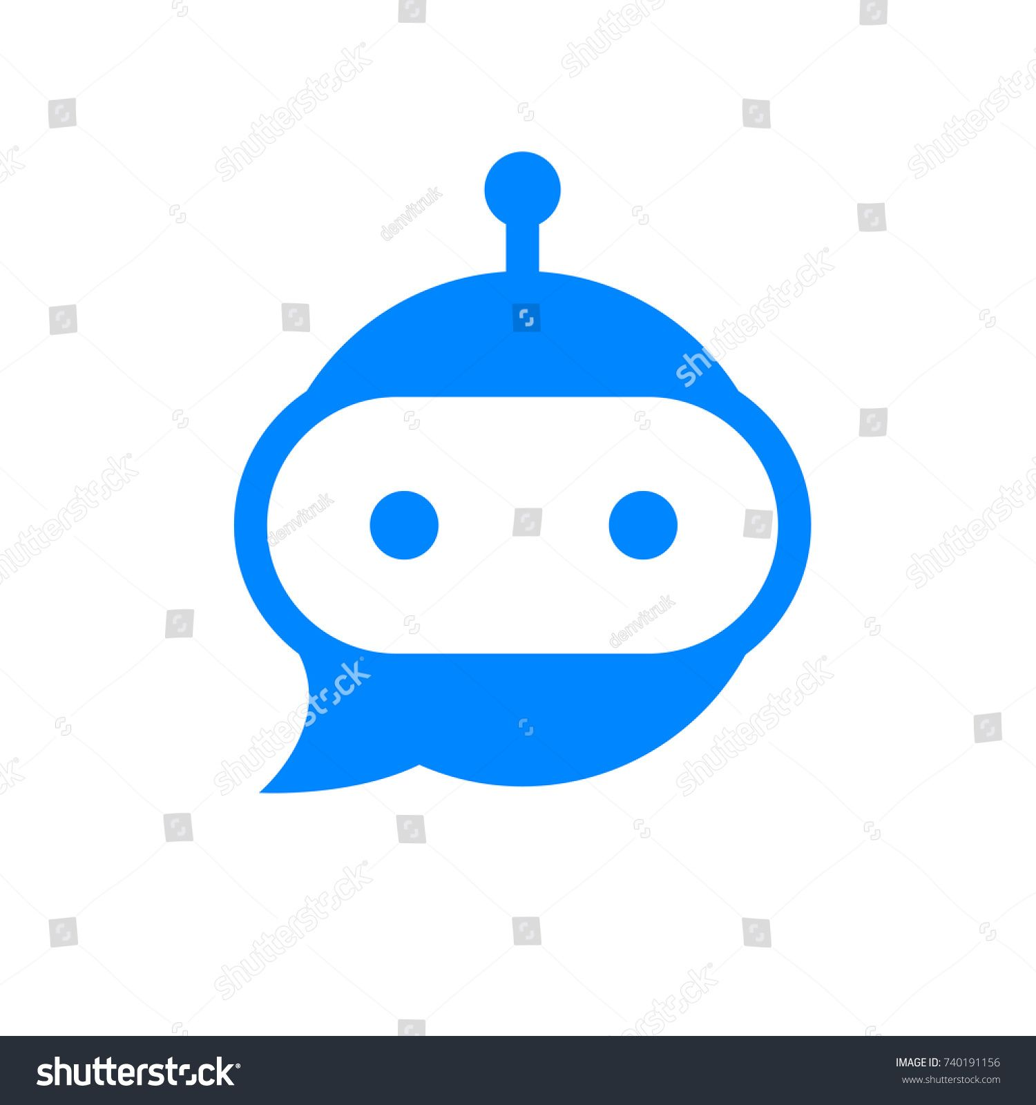 chatbot icon  bot sign design  chat bot logo concept