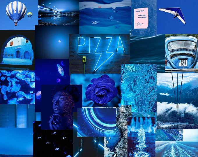 Moody Dark Purple Vsco Digital Wall Collage 45pcs Etsy In 2021 Photo Wall Collage Wall Collage Blue Aesthetic Dark