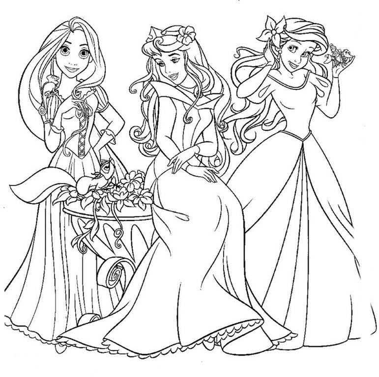 Dibujos De Princesas Disney Para Colorear E Imprimir Gratis Para