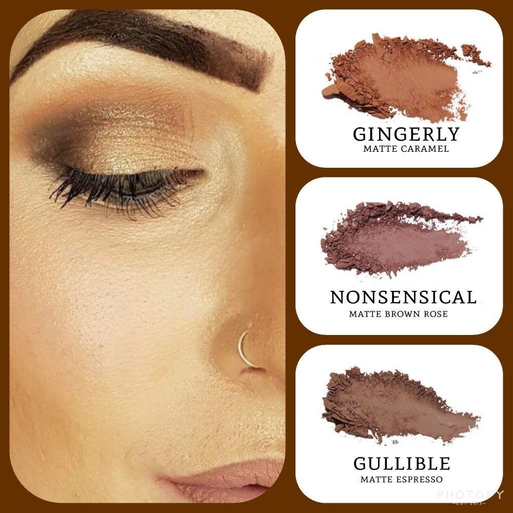 Great Brown Eyeshadow Combo Matte Caramel Gingerly Brown Rose