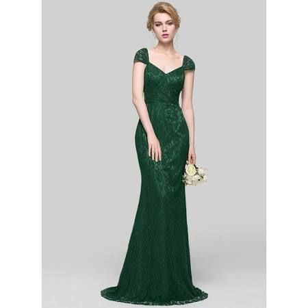 1798df9fc4 long dark green lace dress jjshouse - Google Search | Maid of honor ...