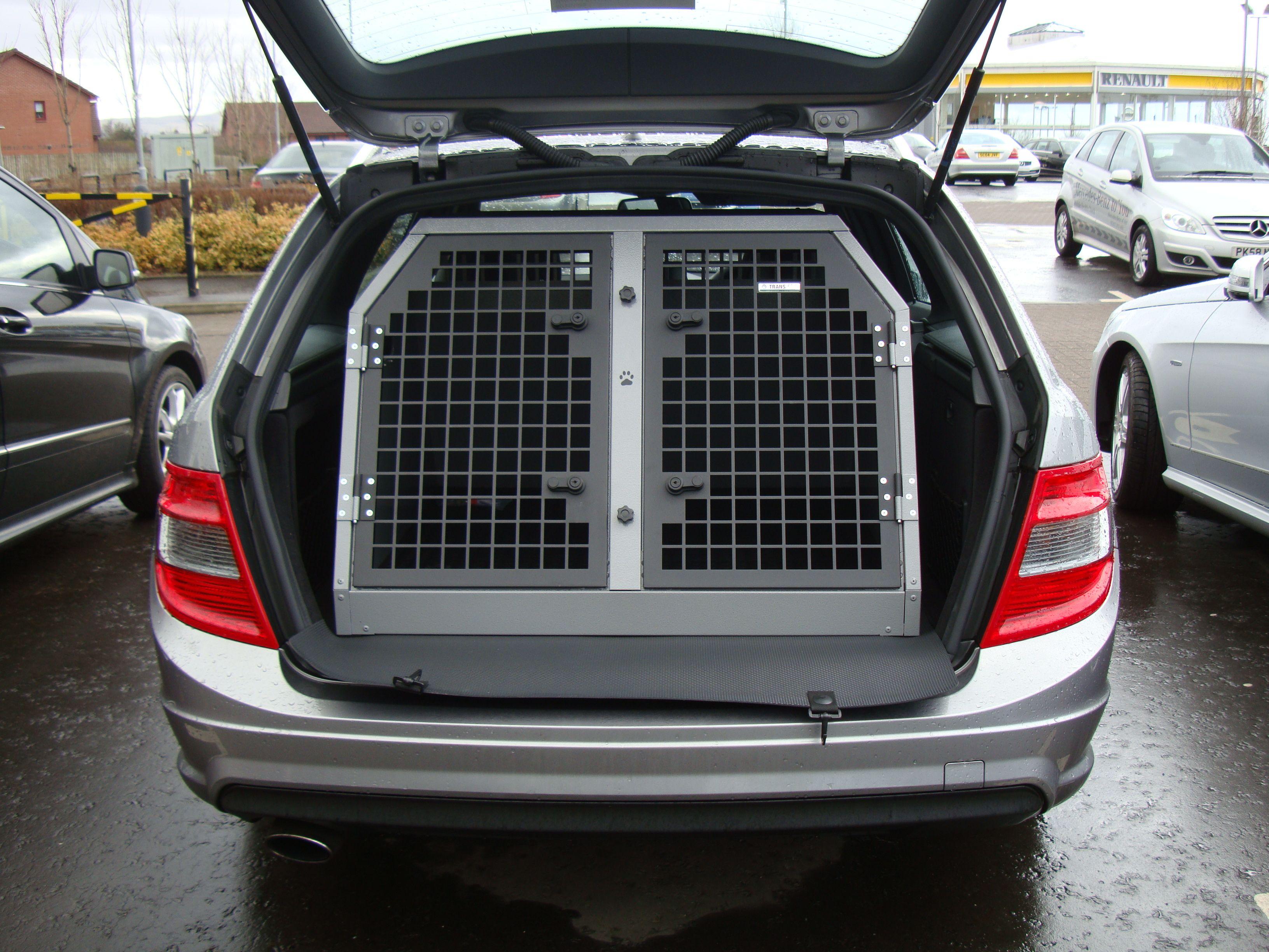 TransK9 B2 Mercedes C Class Estate Dog Cage Dog Crate Dog Transit