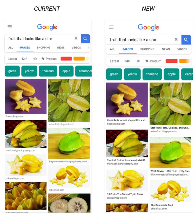 نتائج بحث صور قوقل ستعرض الآن تسميات توضيحية في أندرويد و Ios تطبيقات الاندرويد Google Image Search Google Seo News