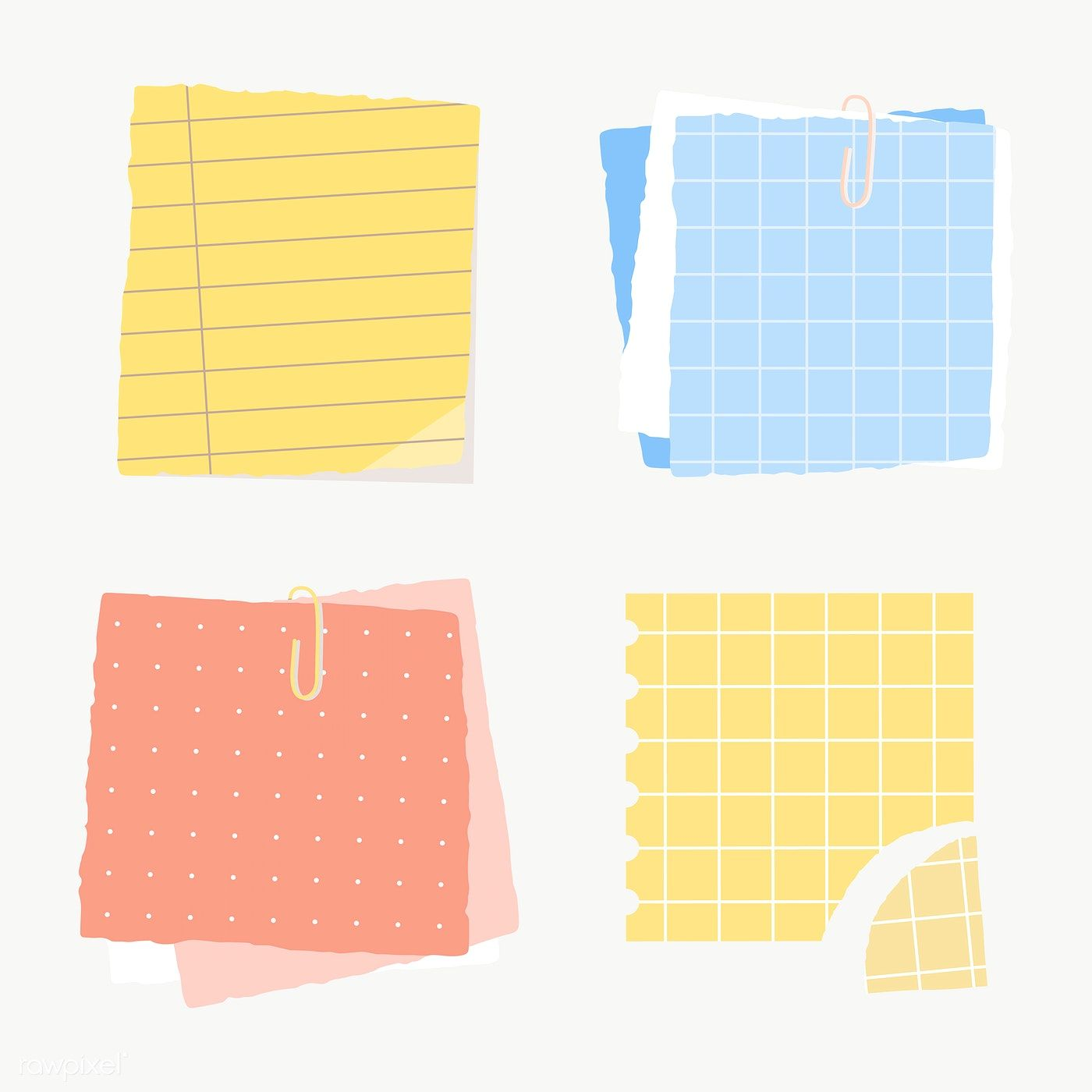 Colorful Paper Note Collection Social Ads Template Transparent Png Free Image By Rawpixel Com Manotang Note Paper Torn Paper Note Pad Design