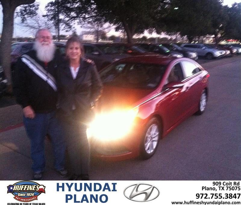 #HappyAnniversary to Judith Royal on your 2014 #Hyundai #Sonata from Everyone at Huffines Hyundai Plano!