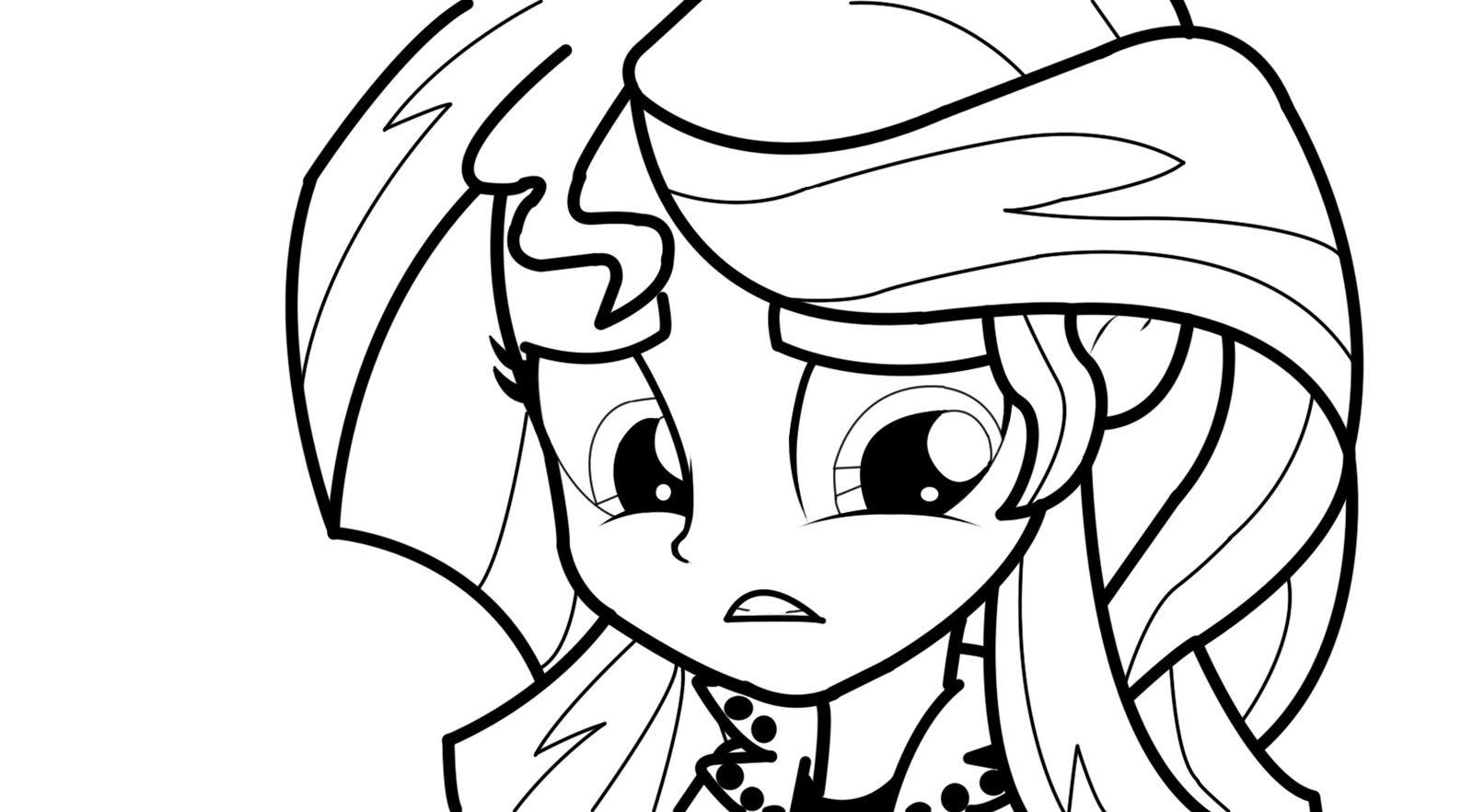 Mlp My Little Pony Equestria Girls Coloring Book Sunset Shimmer