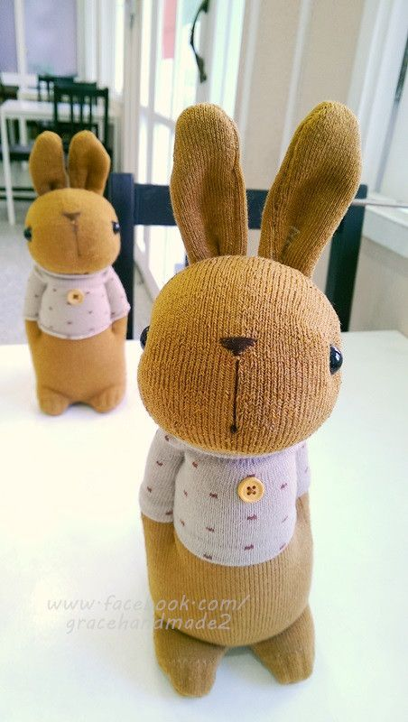Grace--#340 sock Domy Rabbit | Sockies | Pinterest | Sockentiere ...