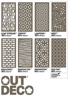 Outdeco Panels Timber Screening Merbau Privacy Screens D I Y