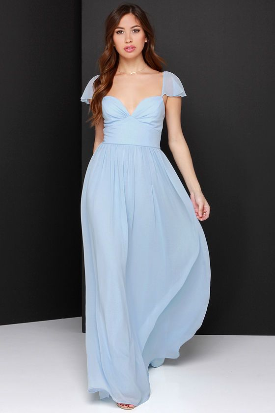 4301f8c980 Evening of Bliss Light Blue Maxi Dress at Lulus.com!