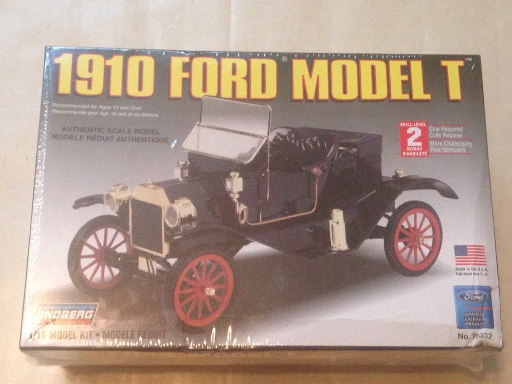 Lindberg 1 16 Scale 1910 Ford Model T Model Car Kit New Sealed