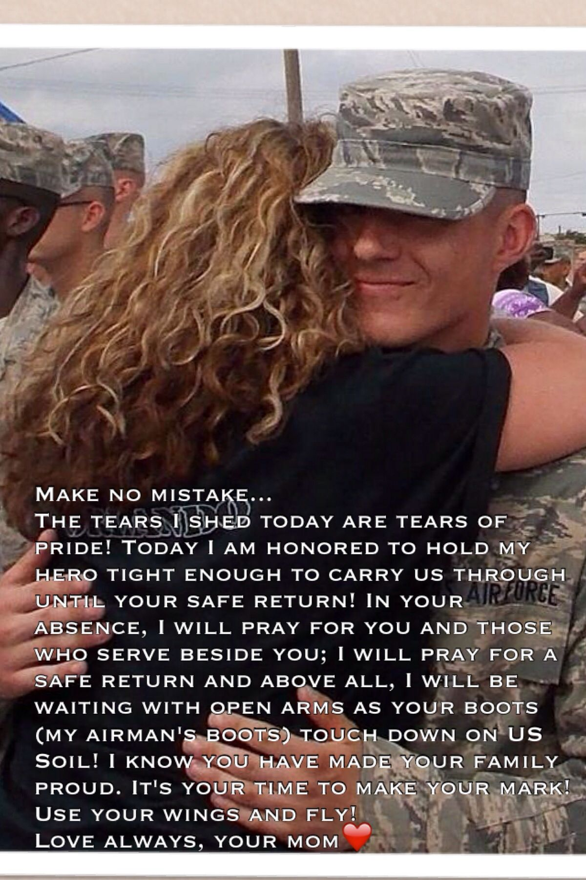 Words from an AirForce Mom to her deploying Airman Son | Words for