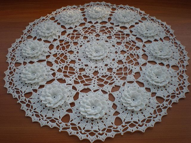 Water Lily Doily simply beautiful | Crocheted things | Pinterest ...