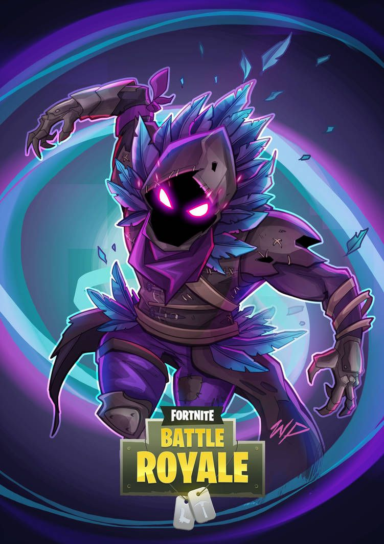 Fortnite raven by puekkers gaming wallpapers anime