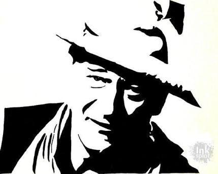 Image Result For John Wayne Pop Art Silhouette Wall Art Silhouette Clip Art Silhouette Stencil