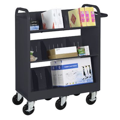 Sandusky Endurance Sloped-Shelf Book Cart Finish: Black