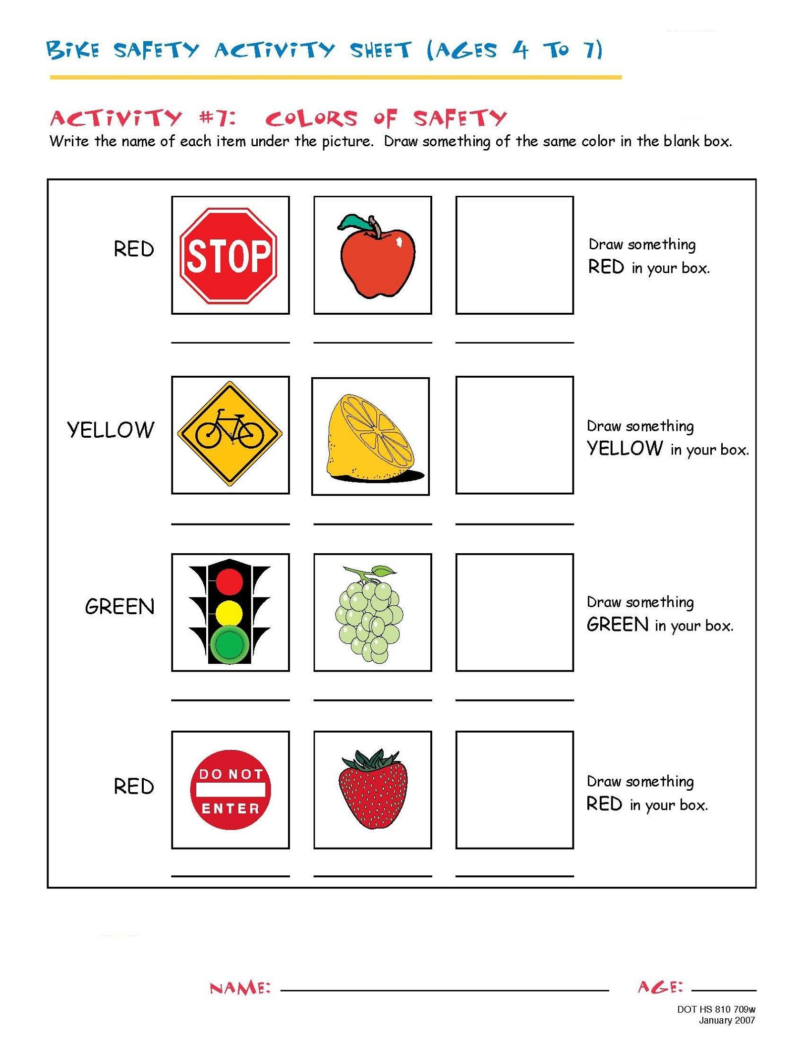 Fun And Printable Worksheets For 4 Year Old In 2021 Bike Safety Activities Bike Safety Pedestrian Safety Activities [ 2100 x 1622 Pixel ]