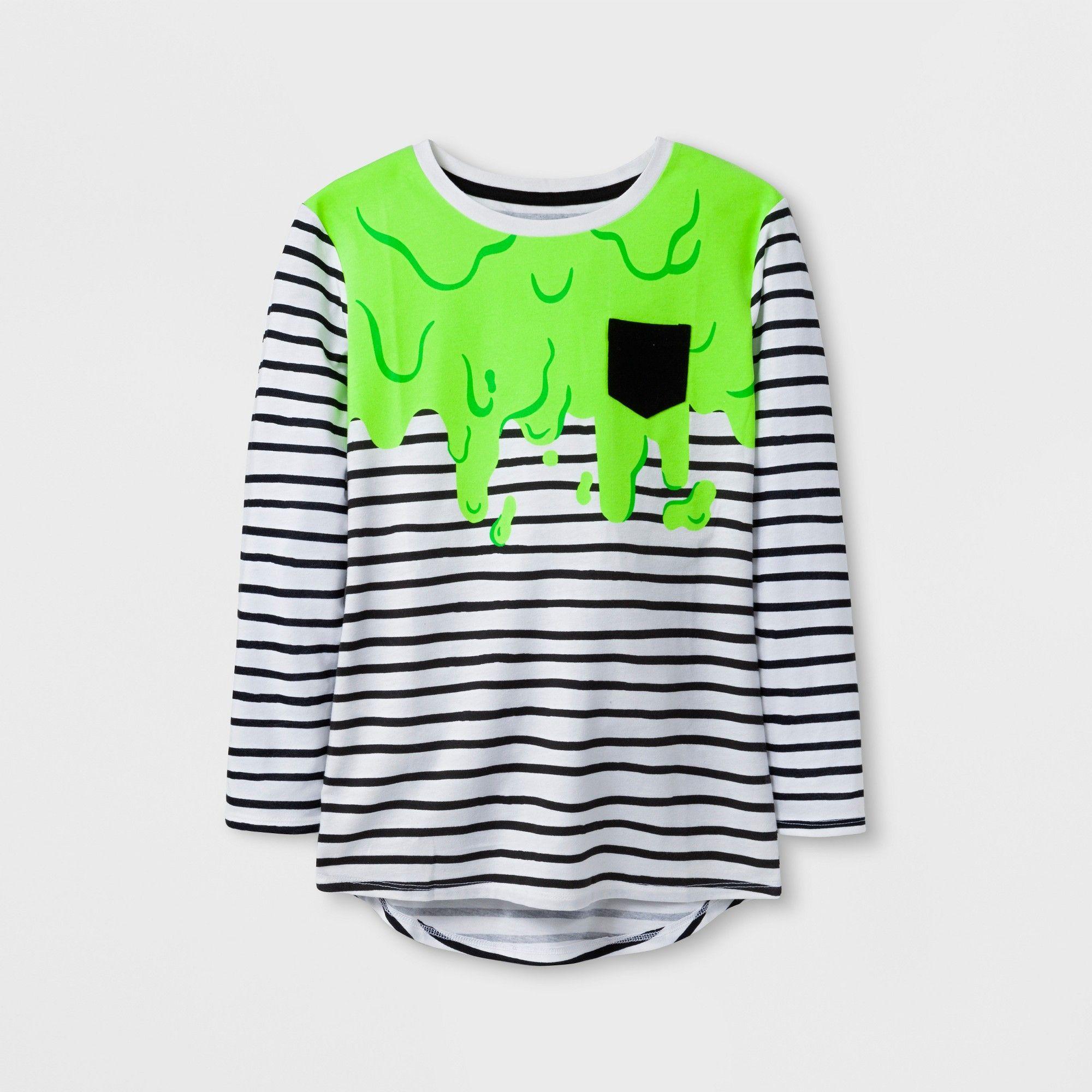 0464e4367 Girls  Halloween Slime Long sleeve T-Shirt - Cat   Jack Black L ...