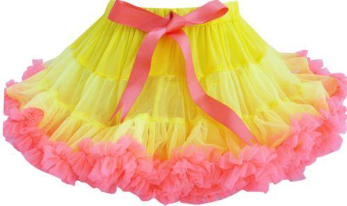 Mädchen Kleid Gelb Tutu Tanzen Rosa Trimmen Festzug Party Kids Gr.86 ...