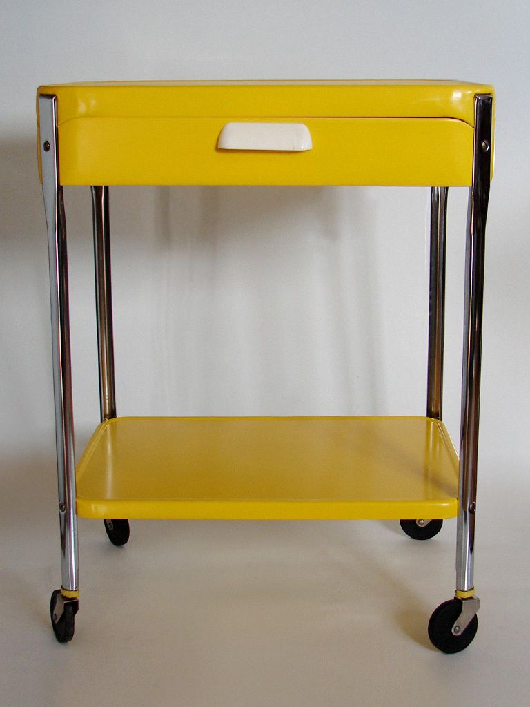 Cosco Utility Kitchen Rolling Cart Stand w Drawer Mid Century 50s Side Table | eBay