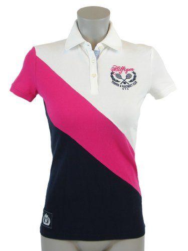 Tommy Hilfiger Slim Fit Womens Logo Polo Shirt  b322570bed