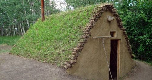 The burdei dates back as far as 6000 years and its a type of half-dugout shelter somewhat between a sod house and a log cabin usually with a floor thats 1  1.5 meters under ground level. by Bruce Russell
