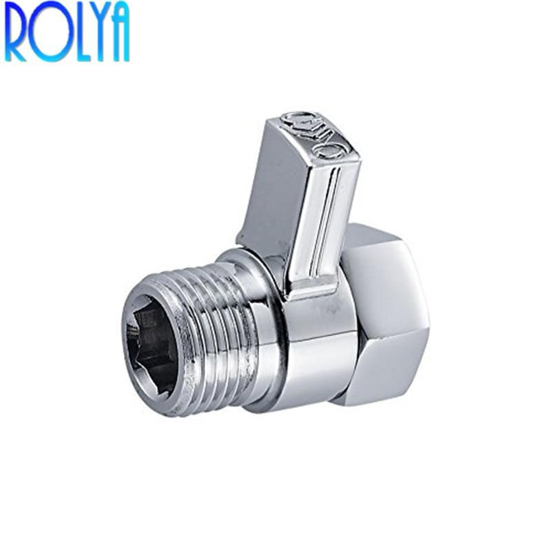 Chrome Brass Shower Flow Control Valve Water Pressure Reducing For