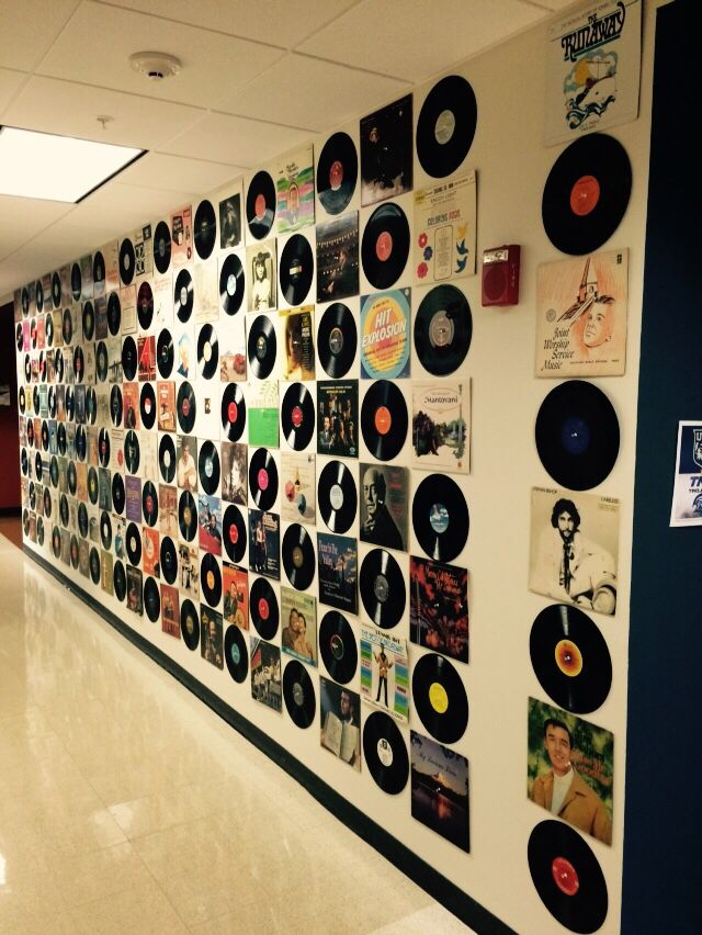 Hall Decorations With Vinyl Records Cool For Home Use Too Wall Art Diy Easy Music Decor Diy Wall Art