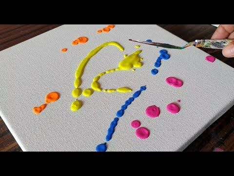 Color Blast / Abstract Painting Demonstration / Simple & Satisfying / Project 365 days / Day #0333 - YouTube