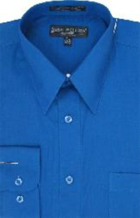 SKUPS172 Men&39s Royal Blue Dress Shirt $29 Mens Dress Shirts Dress ...