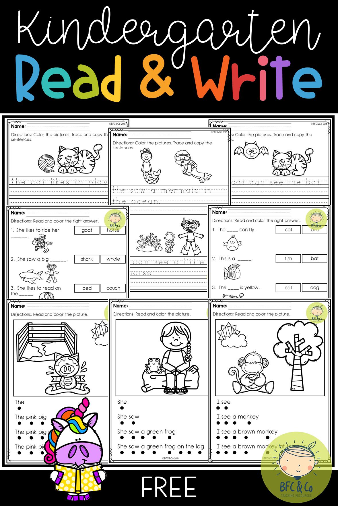 Kindergarten Read and Write Freebie | School-K | Pinterest | Kind ...