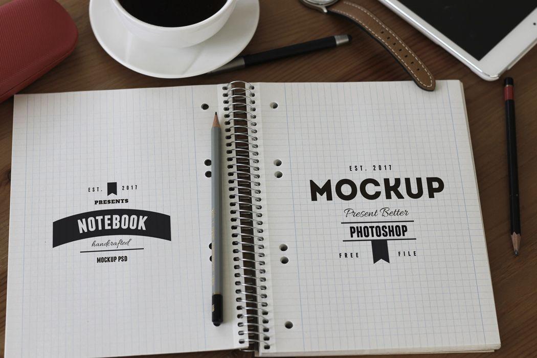 Free Sketchbook Mockup Template Mockup Free Psd Psd Freebies Mockup Template
