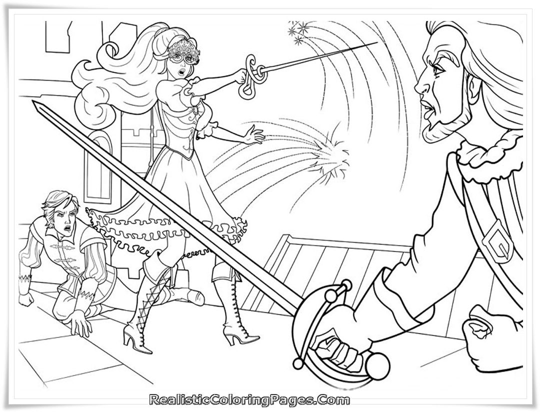 hard coloring pages of animals and the three musketeers