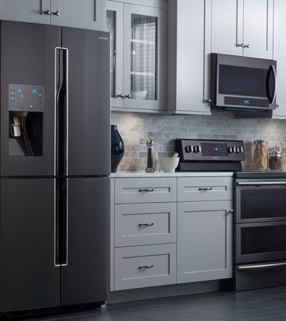 samsung black stainless steel appliances - google search | kitchen