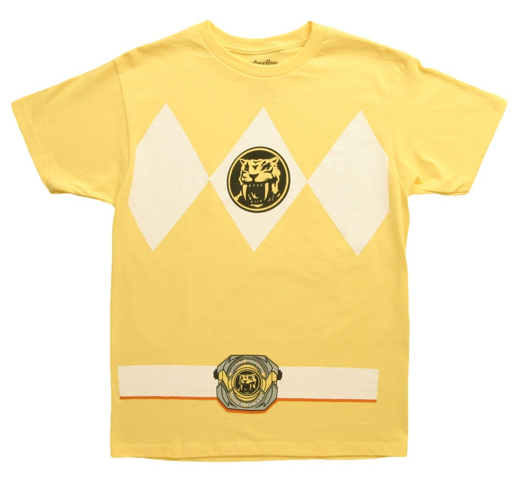 4f4d0af9d50 Yellow Power Ranger Tee - Halloween costume t-shirts