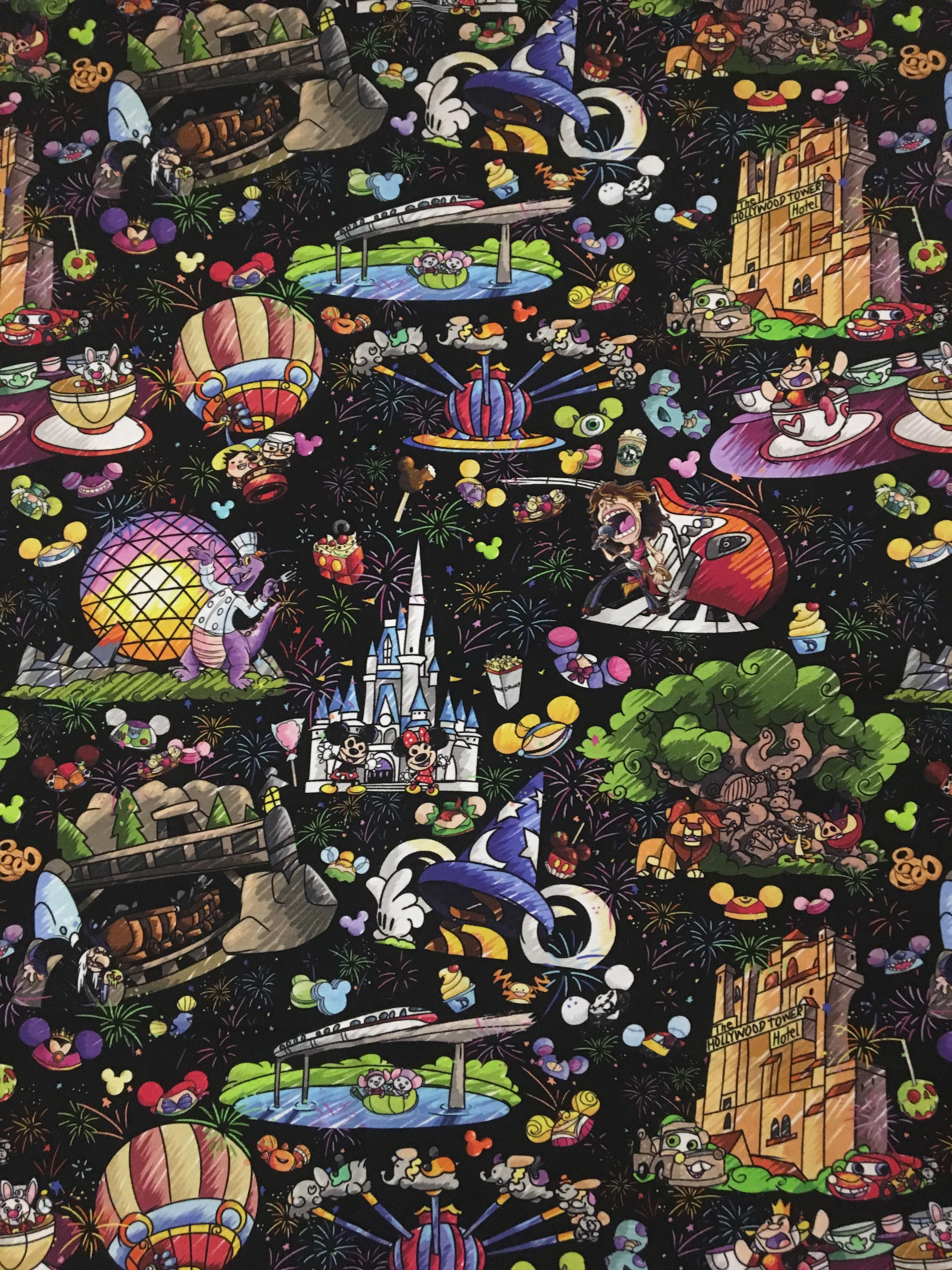 Disney Wallpaper Disney Fabric Walt Disney World Disneyland Disney Collage Cute Disney Wallpaper Disney Wallpaper