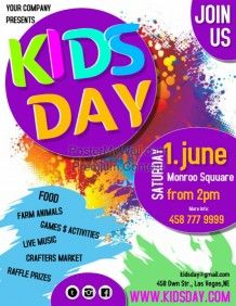 kids day3 flyers pinterest templates poster and poster maker