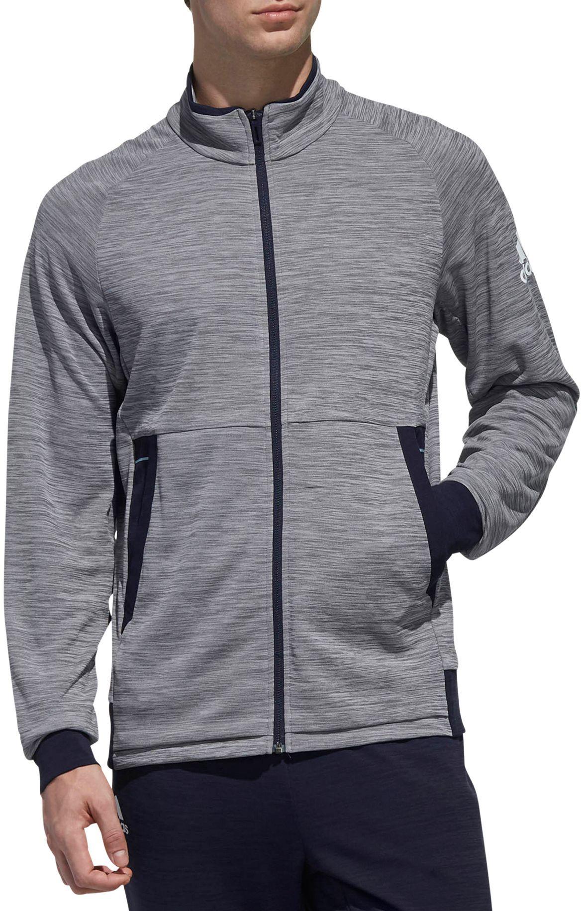 Adidas Men S Knit Grey Six Tennis Jacket Size Medium Gray Jackets Gray Jacket Men S Knit