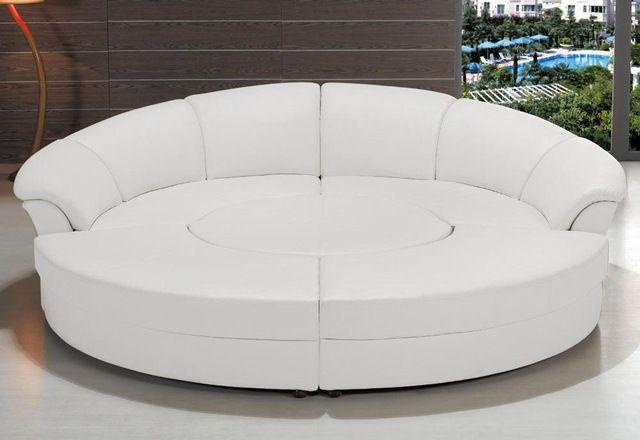 Source Half Moon Modern Sectional Leather Round Sofa Jb335 On M