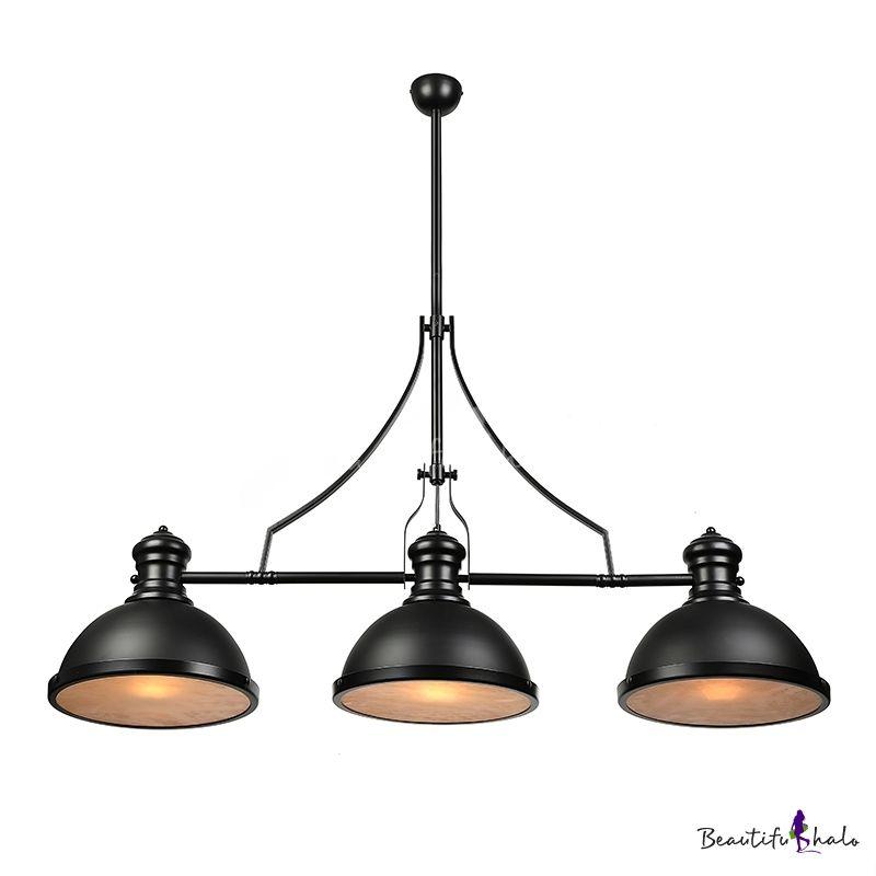 Three Light Pool Table Light Led Linear Island Pendant In Black Finish Pool Table Lighting Pool Light Black Pool Table