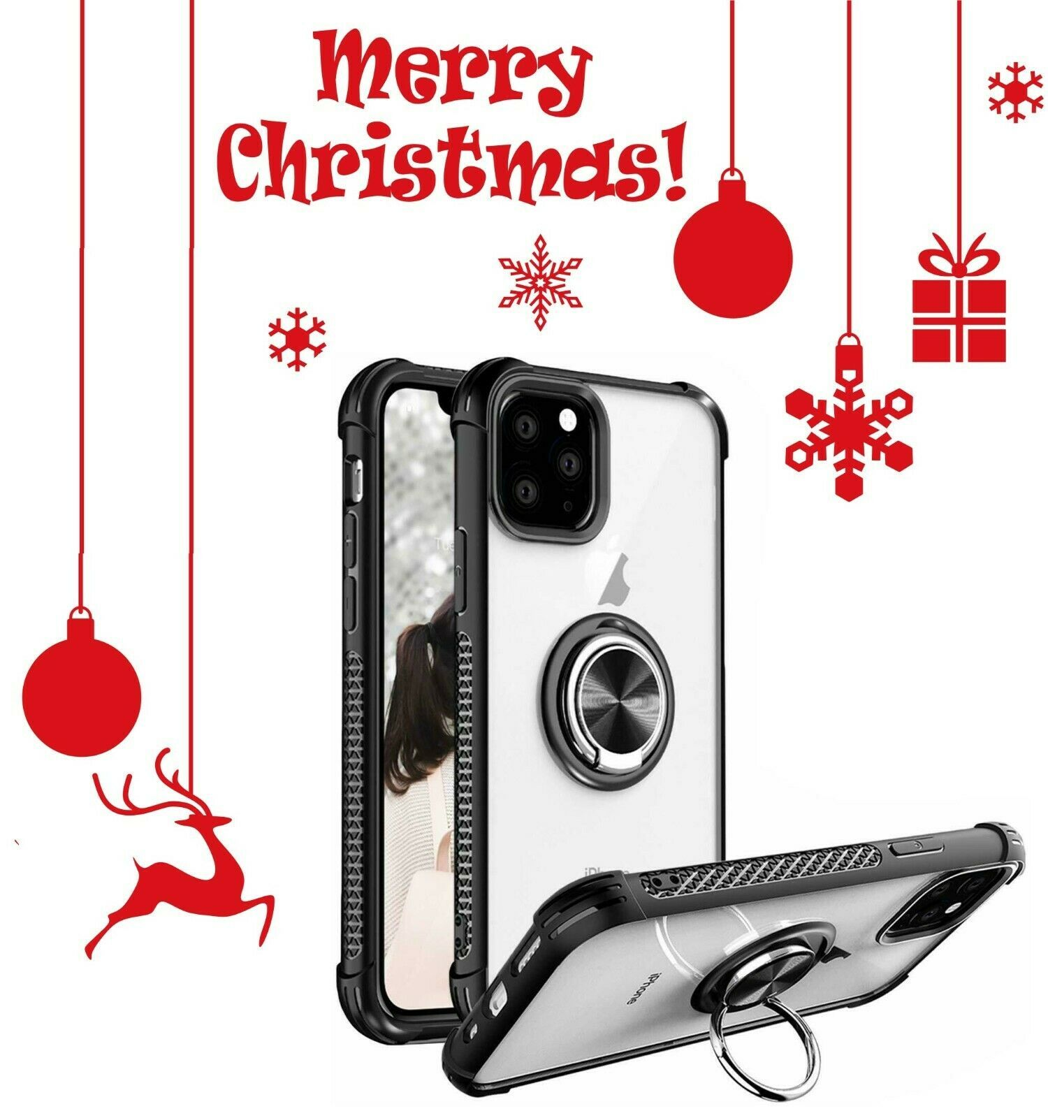 Case cover 360 ring holder phone cover for iphone soft tpu